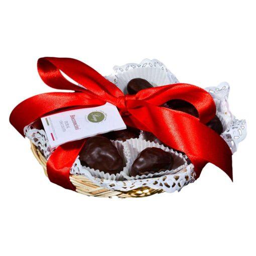 Cesto di Bocconcini di fichi al cioccolato fondente