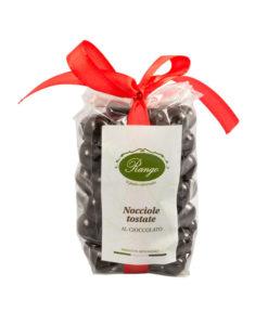 Nocciole tostate al cioccolato fondente extra